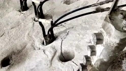 矿山小伙发明一款静态采石棒,力气真大,不带不服的!