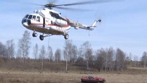 救火神器!直升机吊挂运兵车,直扑火场