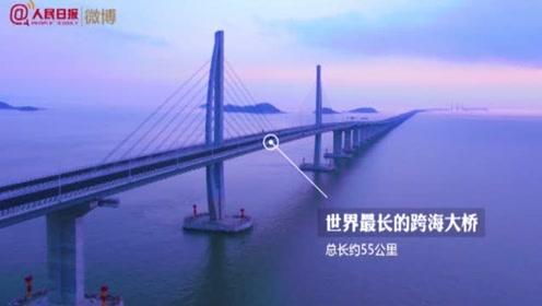 """""""世纪工程""""港珠澳大桥开通一周年,致敬大国工匠"""