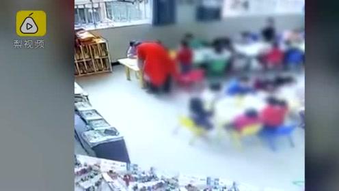 贵州安顺一女幼师课堂上扇打多名学生,已被停职行拘