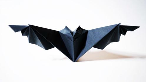 一步一步教你如何折叠万圣节蝙蝠,蝙蝠的折纸方法