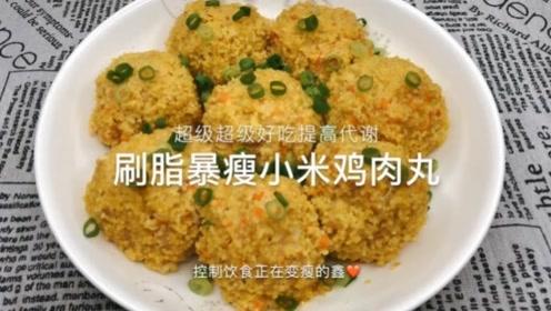 美食vlog: 刷脂暴瘦小米鸡肉丸
