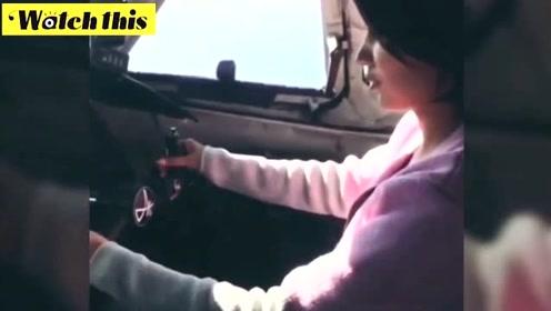 俄女子被机长指导无证驾驶飞机 向网友炫耀:这真是一次难得的体验