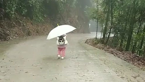 农村小孩真的不要太小上学,我们这里她最小,没有同伴而且离学校还远!