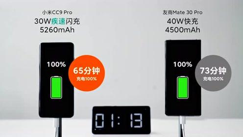 小米CC9 Pro 30W疾速闪充测试