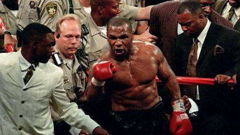 泰森比赛时严重失控,单挑整个保安团,连裁判都不放过!