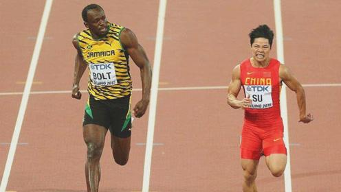 苏炳添百米最光辉一战,博尔特苦追90米,差点就被中国人打败了!