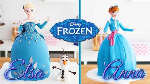 真实还原《冰雪奇缘》最美的两姐妹,这蛋糕你舍得吃吗?