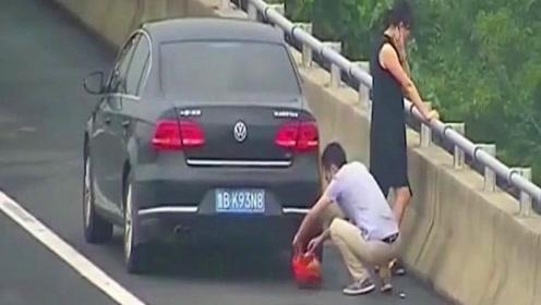 小情侣因高速上太渴停在应急车道,下一秒不敢相信自己眼睛,监控拍下全过程