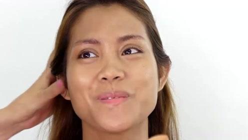 女子五官一般般,经过化妆修颜后,又漂亮又显气质