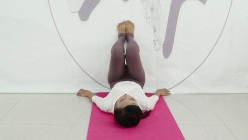 一个瑜伽体式,靠墙倒卧,每天10分钟,血液循环,气色红润!