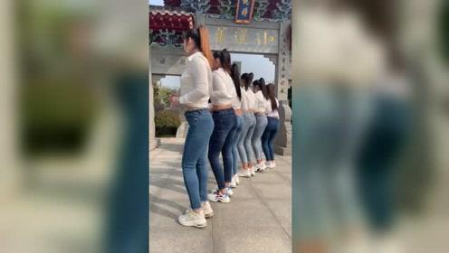 还是穿牛仔裤跳舞有味道,从左数,你喜欢哪一个呢?