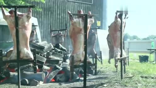 外国人的烤肉方法,不仅烤的慢还要浪费多少木材