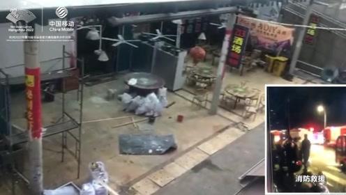 杭州凌晨一夜宵店起火 2人受伤