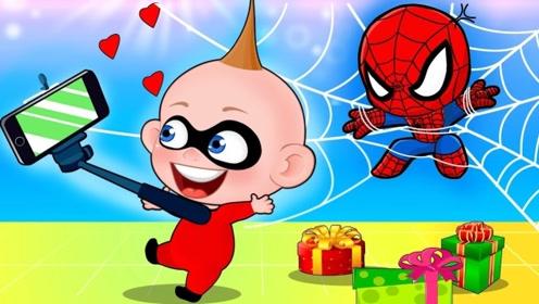 羡慕视频中的蜘蛛侠,男孩用魔法棒变出来,结果把人家弄哭了!