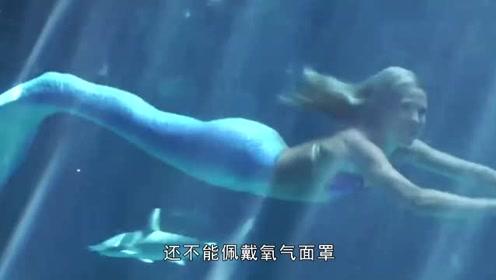 """美国水族馆里活的""""美人鱼"""",能在十几米的水下表演,太惊艳了"""