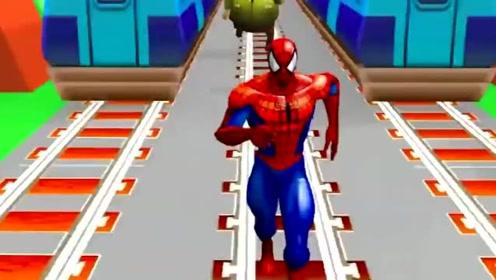地铁酷跑:蜘蛛人酷跑比赛