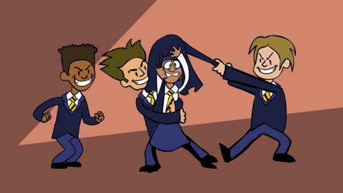异域女孩遭到校园霸凌,所幸老师及时出现,让坏孩子受到教训!