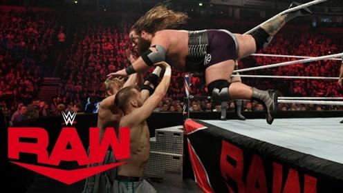 RAW1381期: 维京战士体重差霸气碾压NXT双打冠军