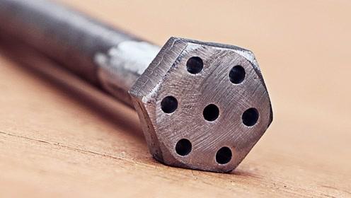 在螺丝钉末端钻六个洞有什么用呢 看完自己也想做一个