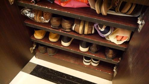 鞋柜放几双鞋就满了?耍个小聪明,鞋柜节省大半空间,超实用