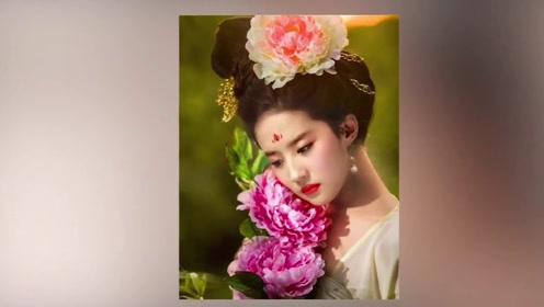 女星头上戴花谁最美?刘亦菲妩媚,景甜喜庆,赵丽颖俗气了?