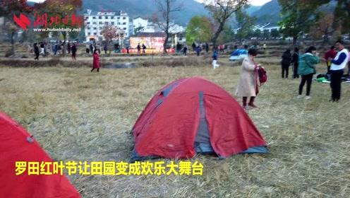 罗田红叶节让田园变成欢乐大舞台