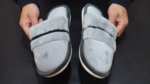棉拖鞋不要用水洗,教你一个小方法,擦一擦立马干净如新,快试试