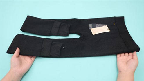 新买回来的打底裤别直接穿,教你一招,不起球不抽丝,真是实用!