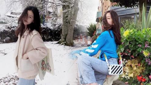 李嫣晒出国外雪景美照,被指长发遮脸不自信,只因网络暴力横行