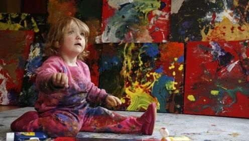 世界身价最高的小画家,2岁就已办画展,画作曝光网友:是天才!