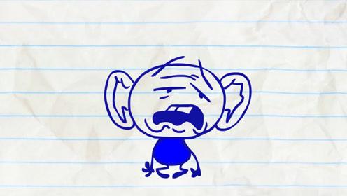 小蓝有了大耳朵,正新奇时,却听觉太过灵敏一直被噪音骚扰