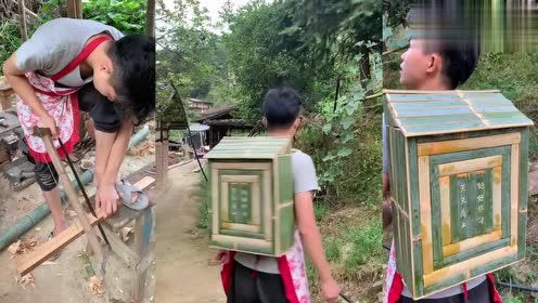 要不是亲眼看到,真不敢相信竹子也能做书包,这书包真个性啊!