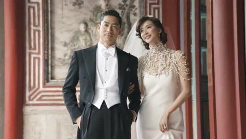 林志玲婚礼后与老公首现身,手捧99朵玫瑰春风满面