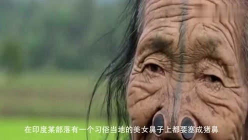 印度部落美女的悲哀将木塞塞入变成猪鼻,原因令人心寒