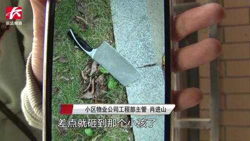 一把菜刀从天降!小孩从家楼下走过吓懵,刀主人:切菜失手了
