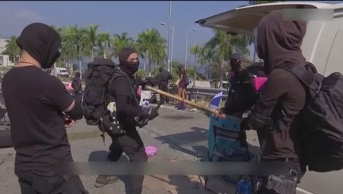 港中大沦为暴徒武器集散地 校内燃烧弹达6000支