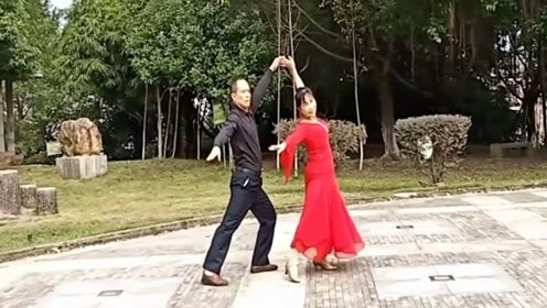 丽莉广场舞双人交谊舞慢四对跳《九儿》附老师详细分解
