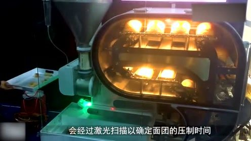 全自动烤面包机,一次可以做100个!全程透明展示的哦