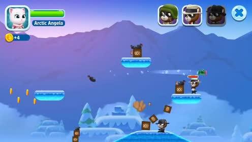 好玩的游戏:安吉拉一打一个准!浣熊强盗都被打进水里了!