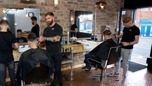 最具有特色的理发店,地板由7万便士币铺成,高调炫富?