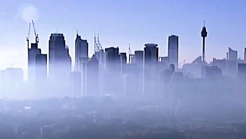"""悉尼惊现""""海市蜃楼""""  烟霾倾城"""