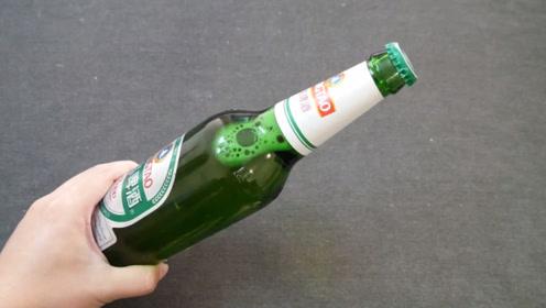 开啤酒原来这么简单!用一张纸,开啤酒不费力,又学会一招