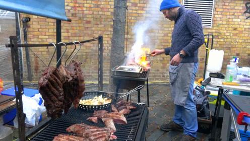 伦敦街头美食,阿根廷烤牛肉,肉食者的天堂!
