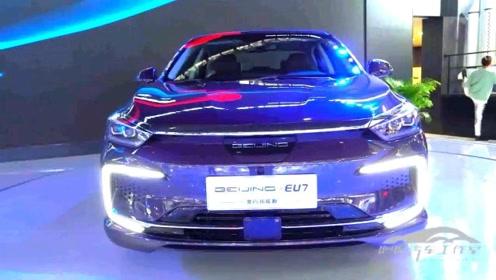 北汽新能源BEIJING-EU7广州车展备受关注,外观美颜,续航放心