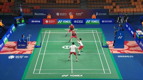 2019羽毛球韩国大师赛 精彩反手得分