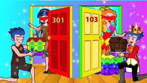 老板娘将钥匙搞混,使得富家女和贫穷女的房间互换,真搞笑!