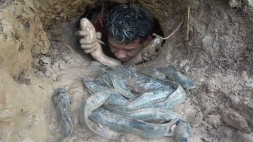 越南小伙在河边发现奇怪洞口,钻进去后,竟收获满满!