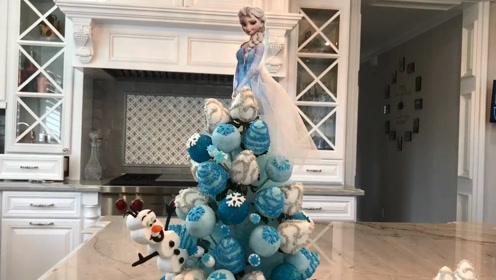 《冰雪奇缘》艾莎公主棒棒糖来啦,好多种口味,自己在家就能做!