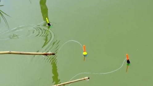 钓鱼:三个人离得很近